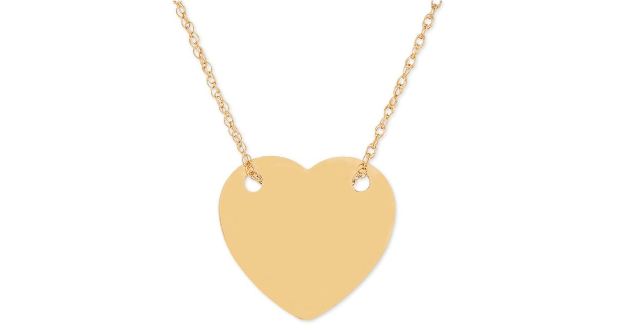 annmarie disk necklace d flat heart large products wd ercole jewelry y