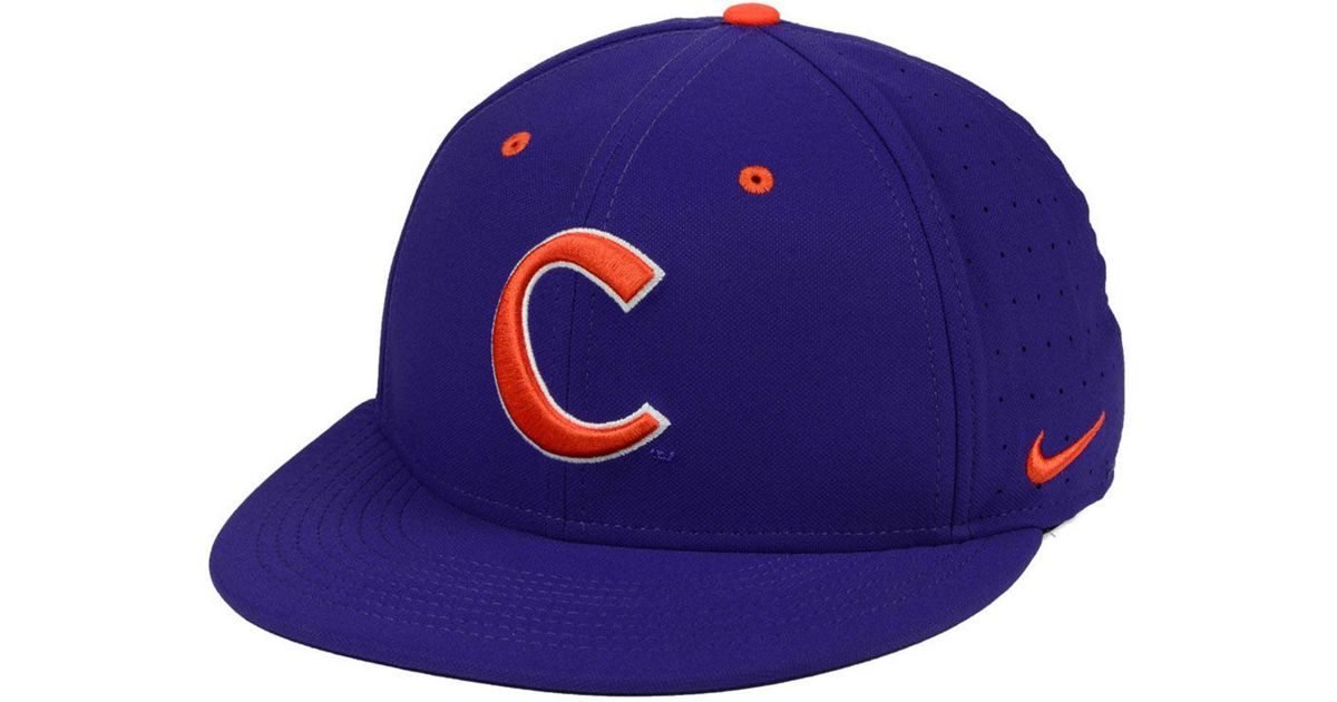 Lyst - Nike Clemson Tigers Aerobill True Fitted Baseball Cap in Purple for  Men 790737f160f