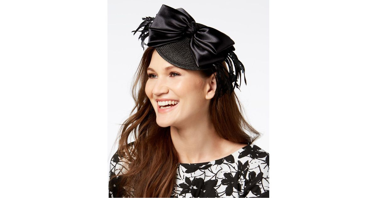 52b4efa940b4e Lyst - August Accessories Diamond Fascinator in Black