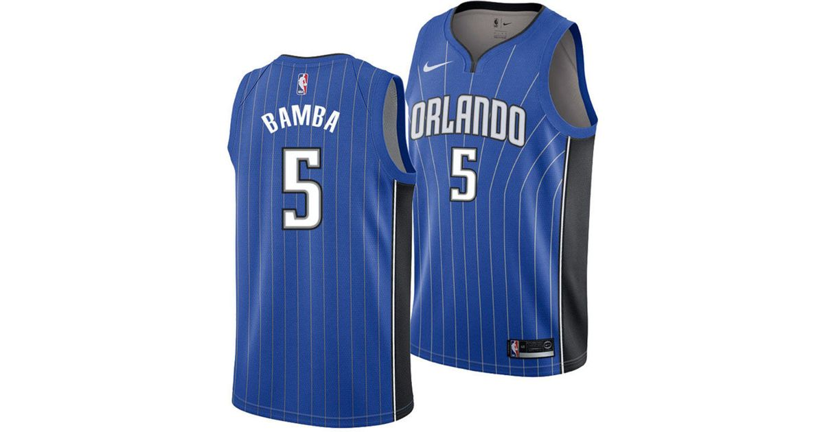3364ee21a6d Lyst - Nike Mohamed Bamba Orlando Magic Icon Swingman Jersey in Blue for Men