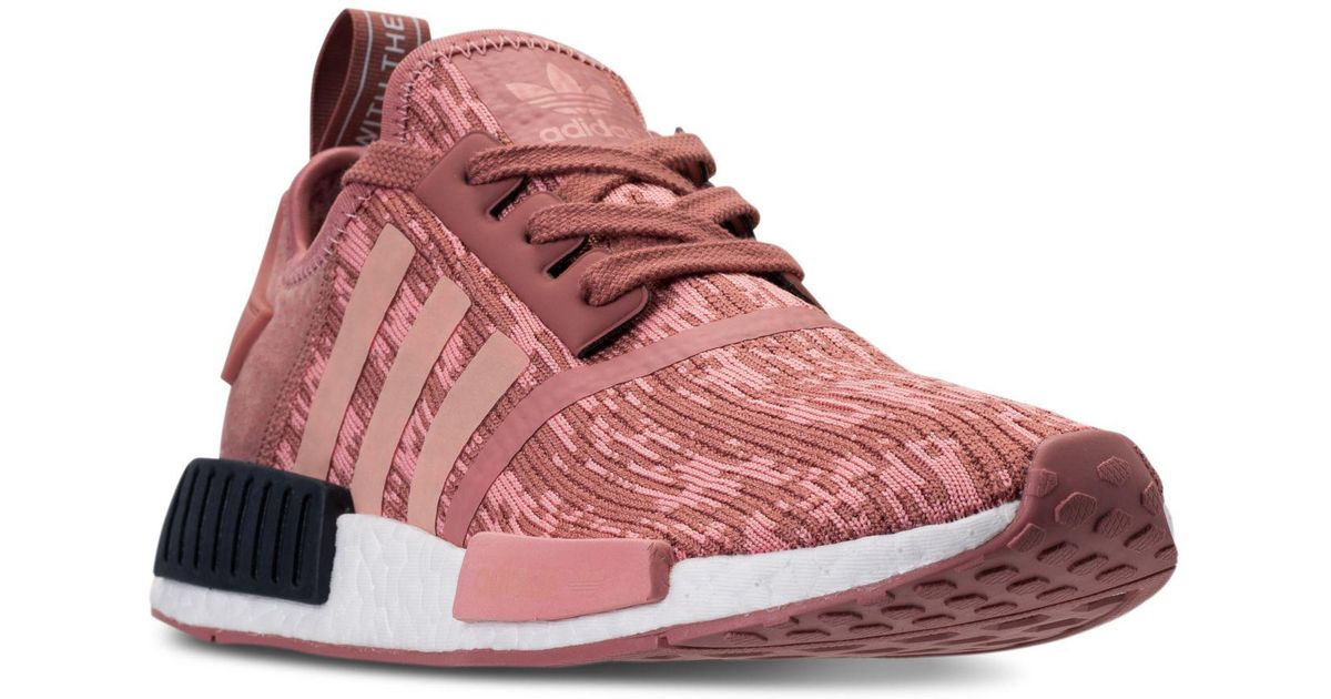 70a7c02b388e4 Lyst - Adidas Women s Nmd R1 Casual Sneakers From Finish Line in Pink
