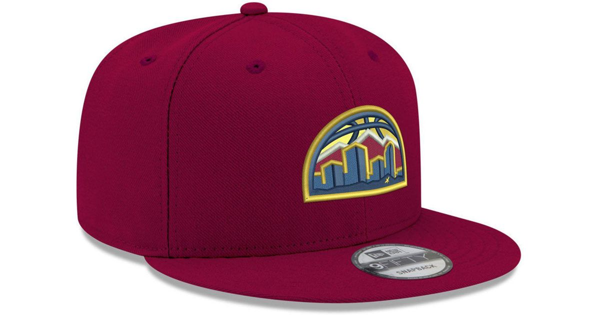 promo code 39dc2 aa5bd Lyst - Ktz Denver Nuggets Basic 9fifty Snapback Cap 2018 in Purple for Men