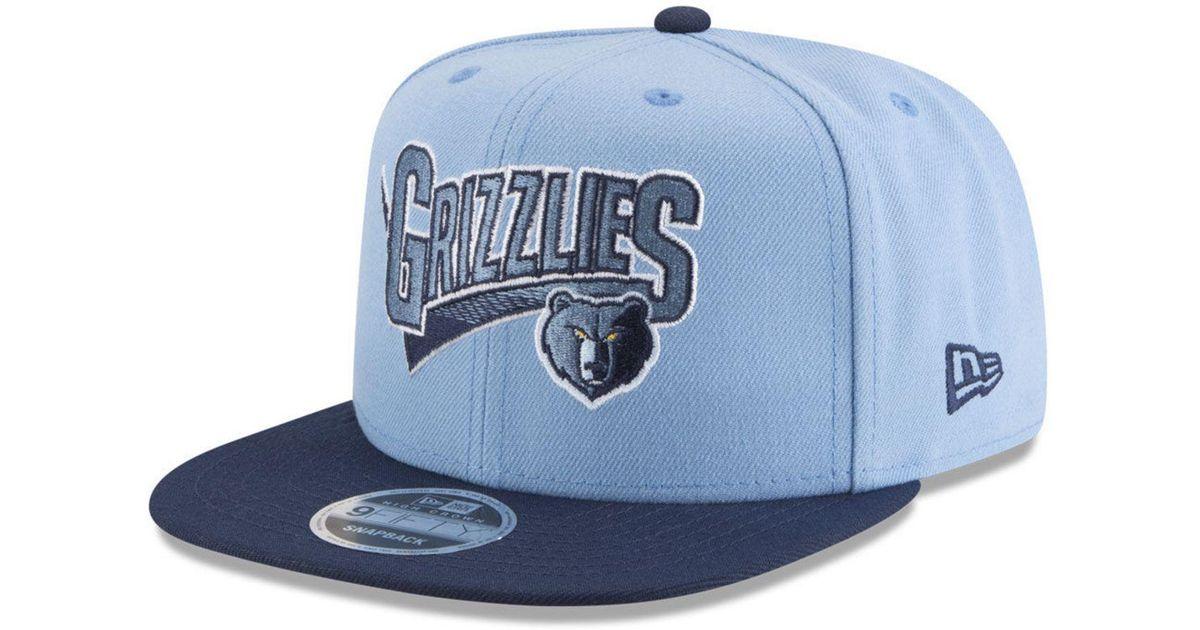size 40 9728c 6278f ... get lyst ktz memphis grizzlies retro tail 9fifty snapback cap in blue  for men 67259 cdf5e