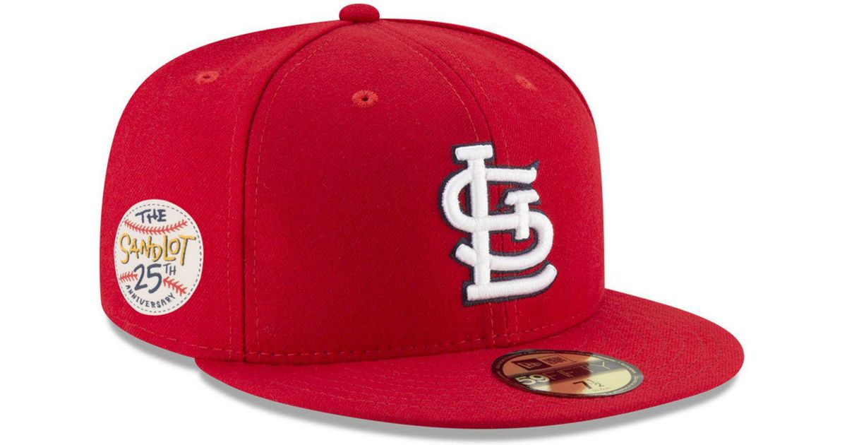 cac7d93449da4b ... men 8aab4 ed4f8; coupon for lyst ktz st. louis cardinals sandlot patch 59fifty  fitted cap in red for