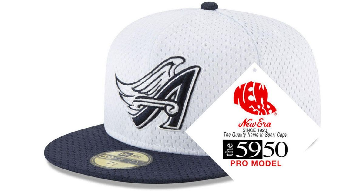 ee6452a48101be KTZ Los Angeles Angels Retro Classic Batting Practice 59fifty Fitted Cap in  White for Men - Lyst