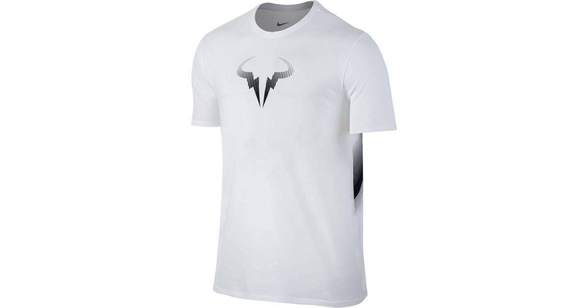 4824e29db Nike Men's Rafael Nadal Logo T-shirt in White for Men - Lyst