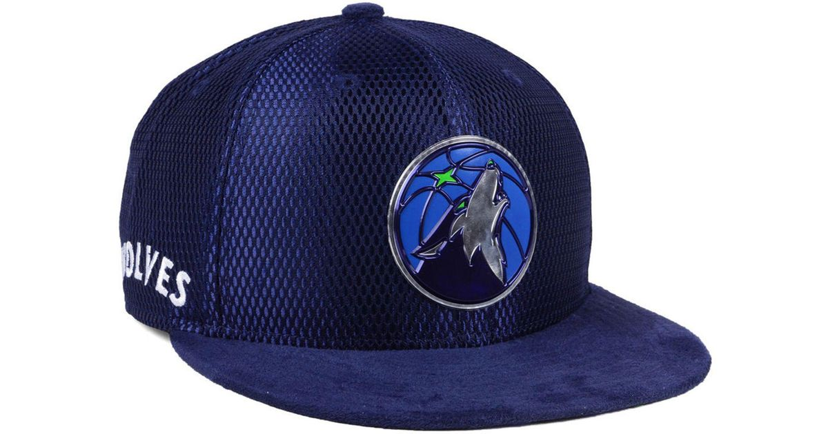 45bbb8ea Lyst - KTZ Minnesota Timberwolves On-court Collection Draft 9fifty Snapback  Cap in Black for Men
