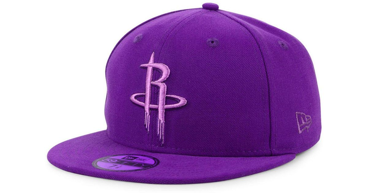 wholesale dealer e12be b367f KTZ Houston Rockets Color Prism Pack 59fifty Fitted Cap in Purple for Men -  Lyst