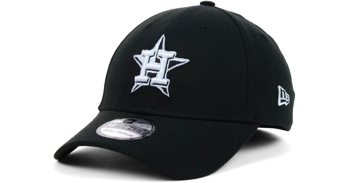 5169bb3bf0c Lyst - KTZ Houston Astros Black And White Classic 39thirty Cap in Black for  Men