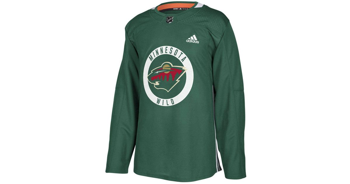 the latest 8755b 8676e Adidas - Green Minnesota Wild Authentic Pro Practice Jersey for Men - Lyst