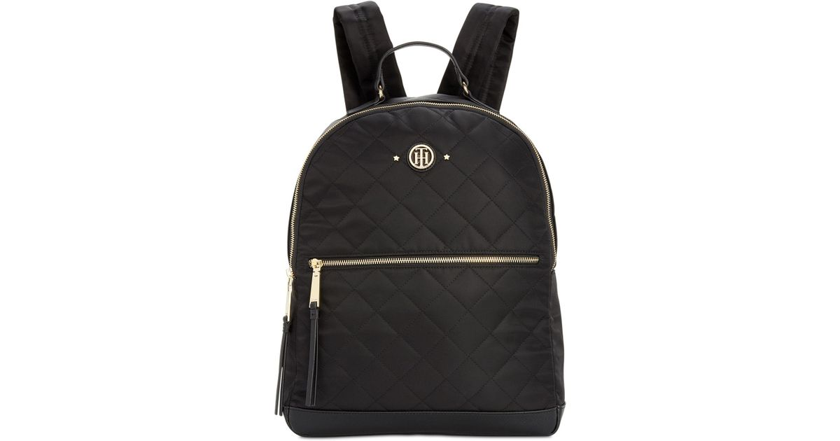 c866446e9e9 Tommy Hilfiger Quilted Stars Nylon Dome Backpack in Black - Lyst