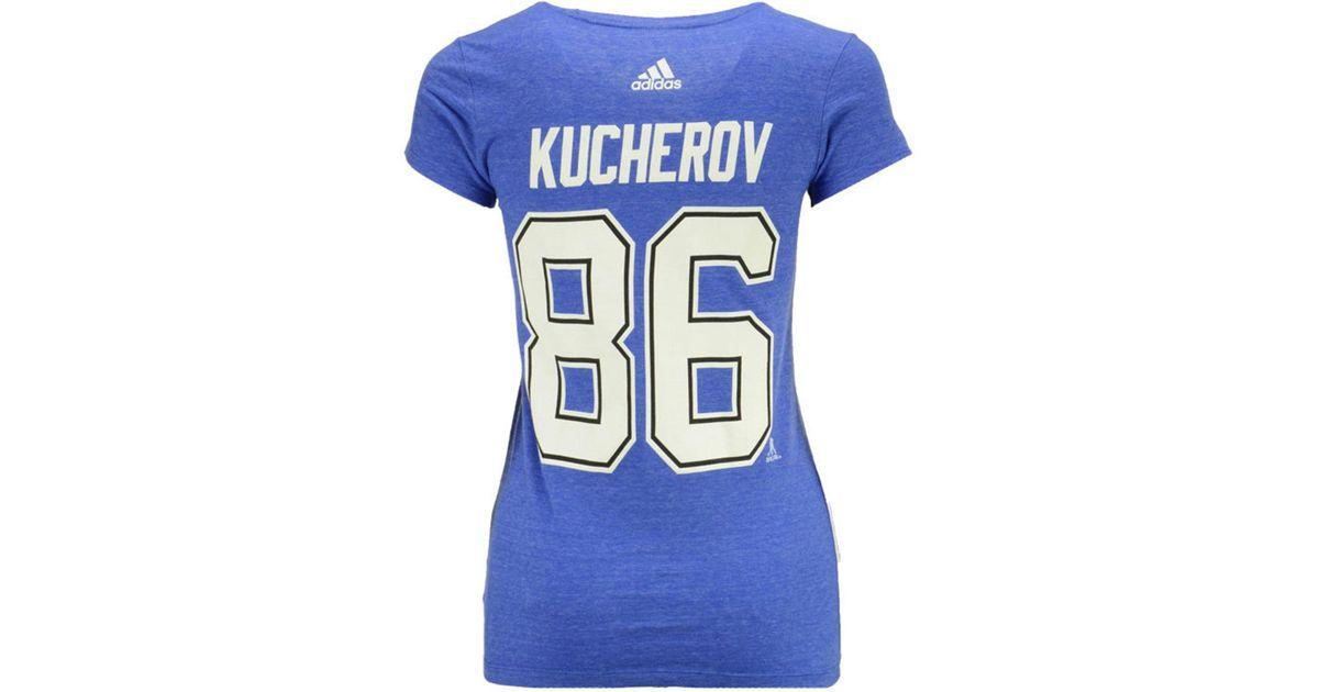 promo code ab1aa 0c4bc Adidas - Blue Nikita Kucherov Tampa Bay Lightning Player T-shirt - Lyst