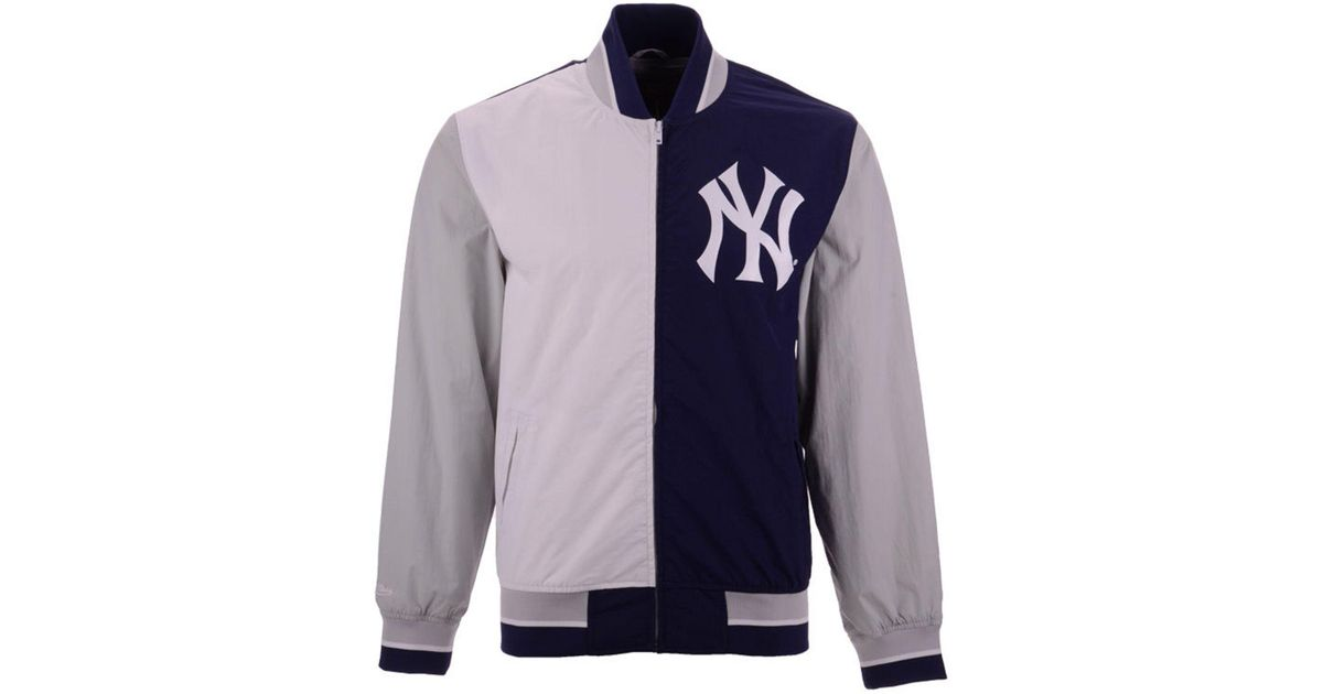 72dcf486a66 Mitchell   Ness New York Yankees Team History Warm Up Jacket 2.0 in Blue  for Men - Lyst