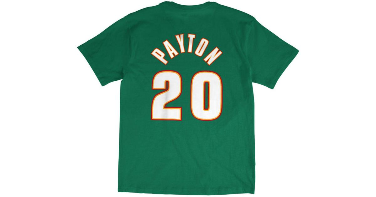 d56eb2bf72c Lyst - Mitchell   Ness Gary Payton Seattle Supersonics Hardwood Classic  Player T-shirt in Green for Men