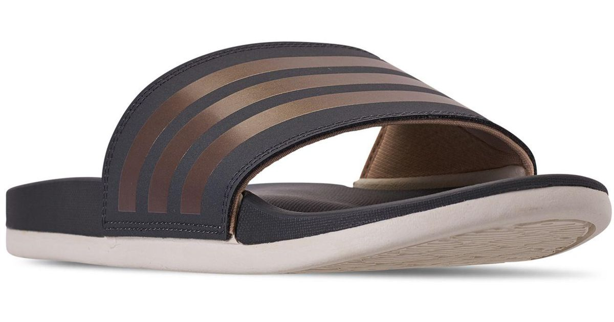 e267b06508f2 Lyst - adidas Adilette Slide Sandals From Finish Line - Save 3%