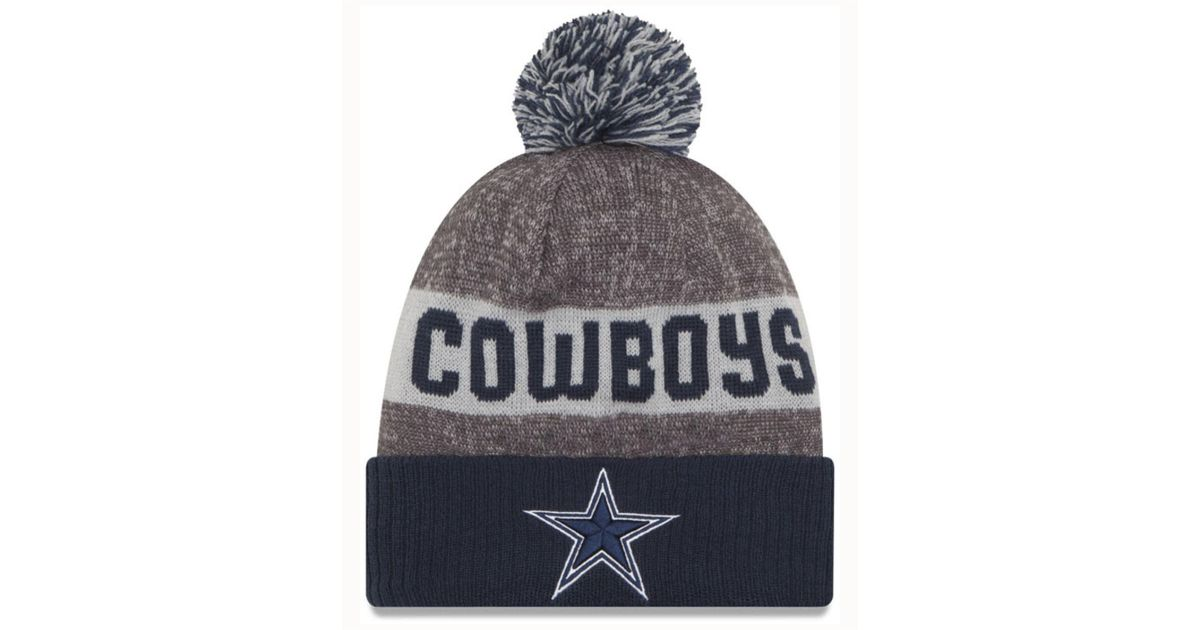 6fb66f4ce Lyst - KTZ Dallas Cowboys Official Sport Knit Hat in Gray for Men