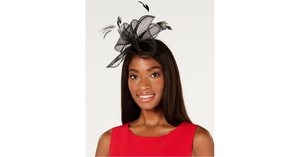 f0161a10c1ded Lyst - August Accessories Flashy Fascinator in Black