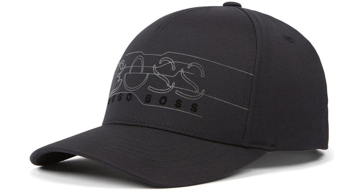 798e6a2c Lyst - BOSS Double-twill Logo Cap in Black for Men