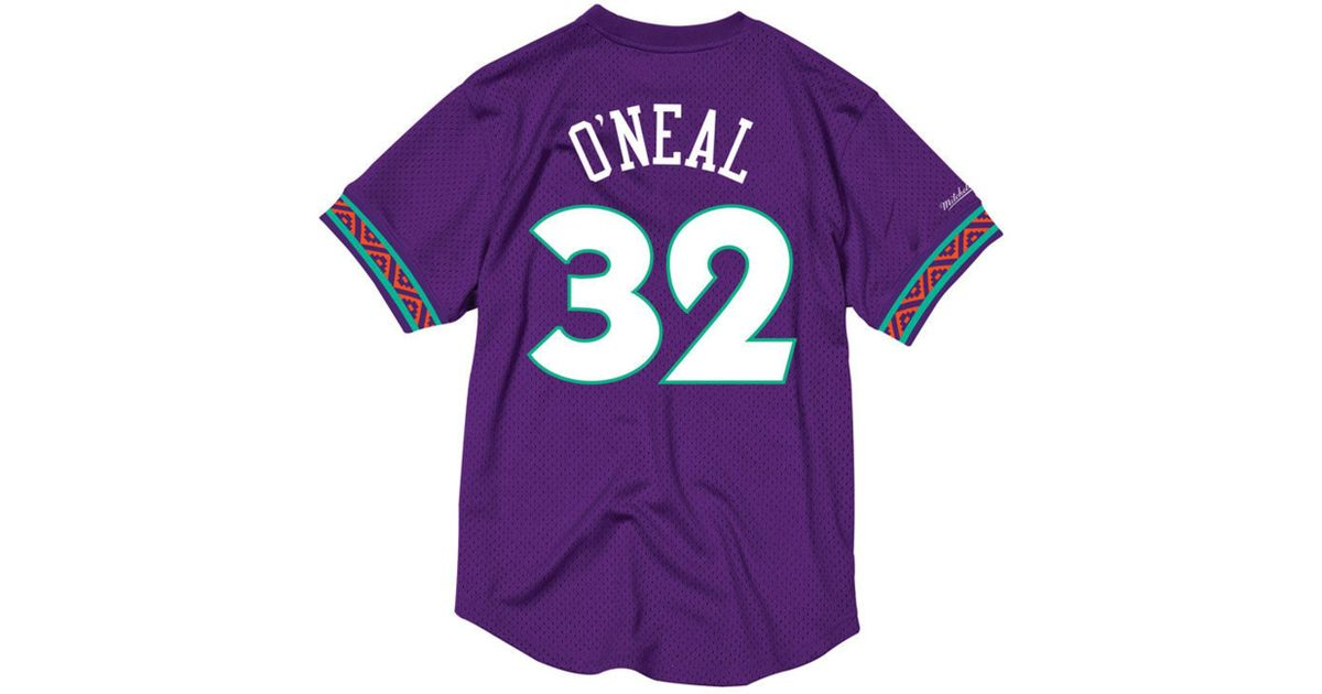 b707cc4b2854 Lyst - Mitchell   Ness Shaquille O neal Nba All Star 1995 Mesh Crew Neck  Jersey in Purple for Men