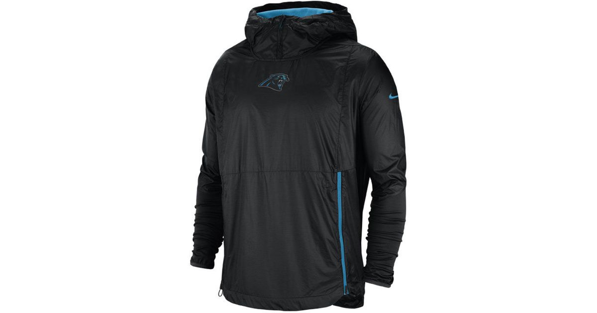 c0115fbd096c Lyst - Nike Carolina Panthers Lightweight Alpha Fly Rush Jacket in Black  for Men