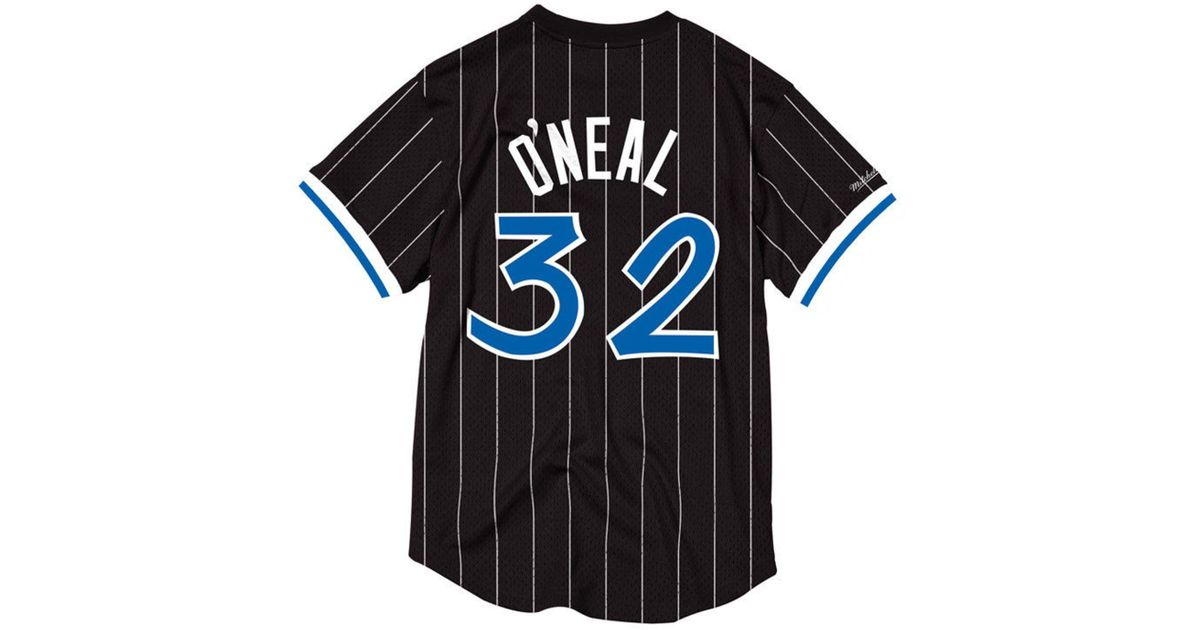 cd9e8a28 Mitchell & Ness Shaquille O'neal Orlando Magic Name And Number Mesh  Crewneck Jersey in Black for Men - Lyst