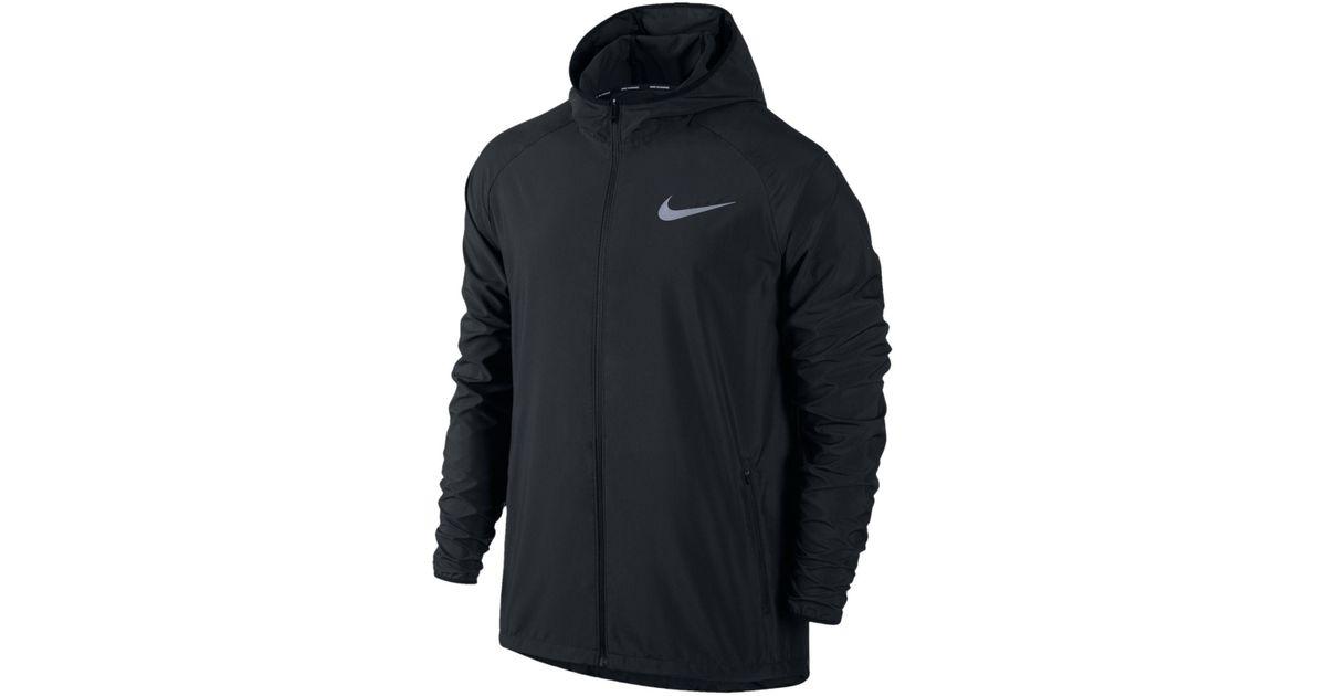 d6be47985f Nike Men's Essential Hooded Water-resistant Running Jacket in Black for Men  - Lyst