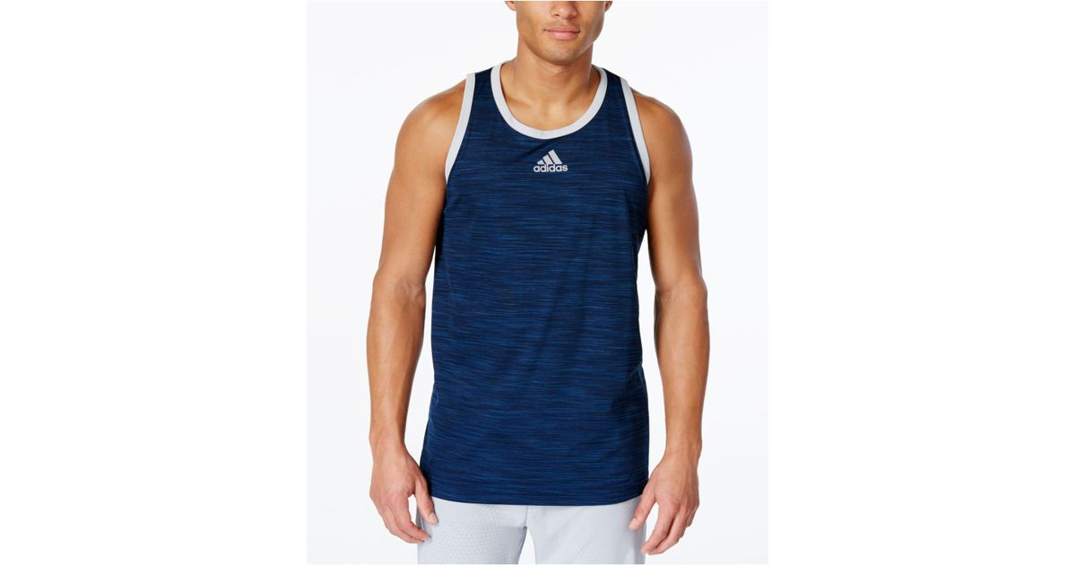 4d880050271e2 Lyst - adidas Men s Heathered Tank Top in Blue for Men