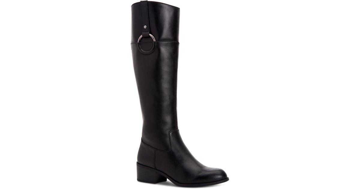5906264629d Lyst - Alfani Step  n Flex Briaah Wide-calf Riding Boots