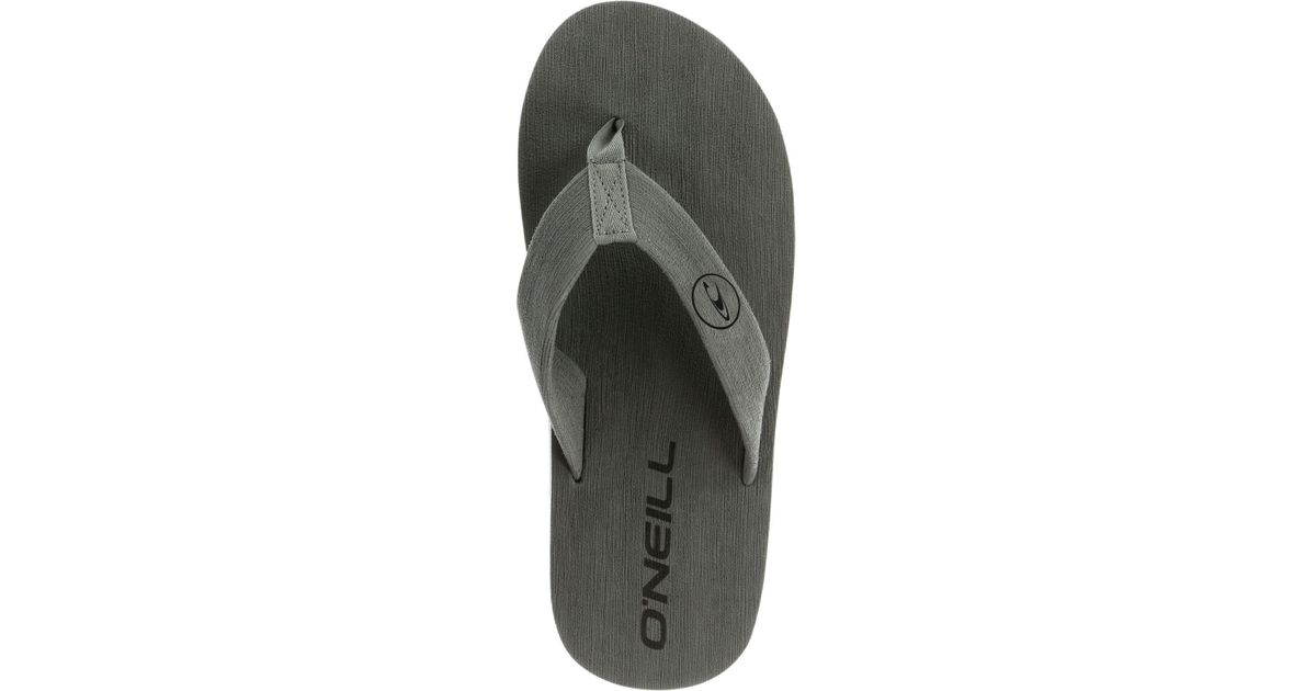 6bea9fe45cff6 Lyst - O neill Sportswear Phluff Daddy Thong Sandals in Gray for Men