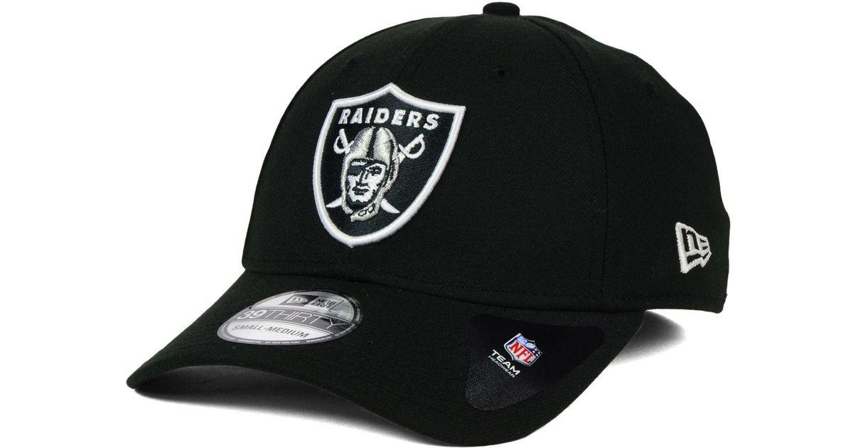 d13b50d7 Lyst - KTZ Oakland Raiders New Team Classic 39thirty Cap in Black for Men