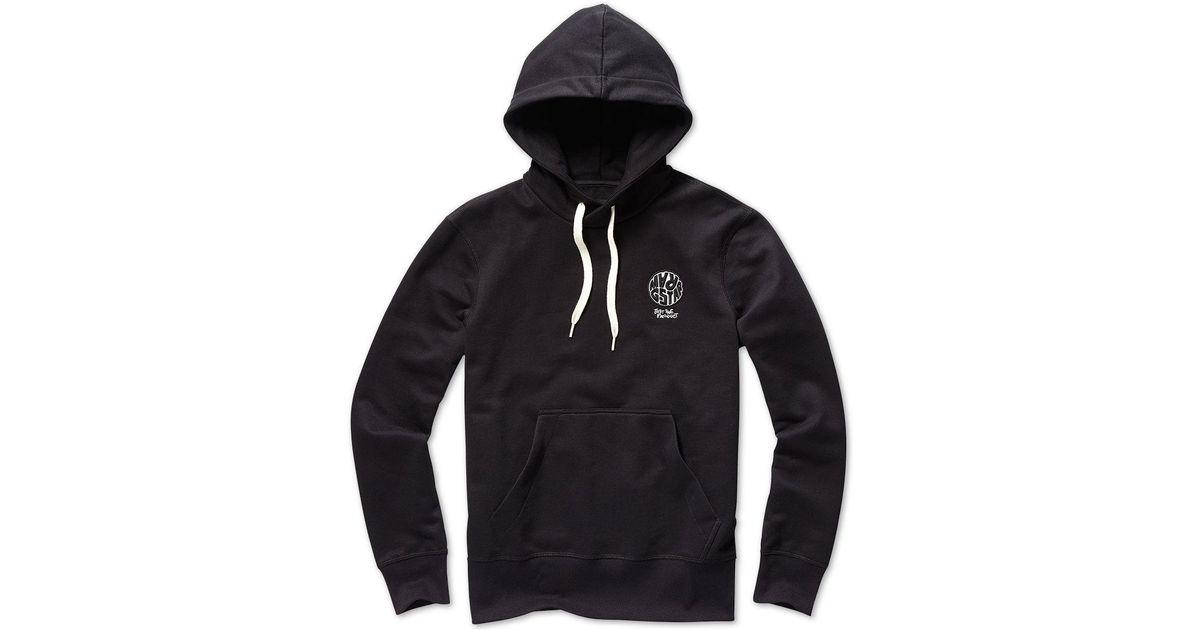 dd81fa9ea9a G-Star RAW Mens Circle Logo Hoodie in Black for Men - Lyst