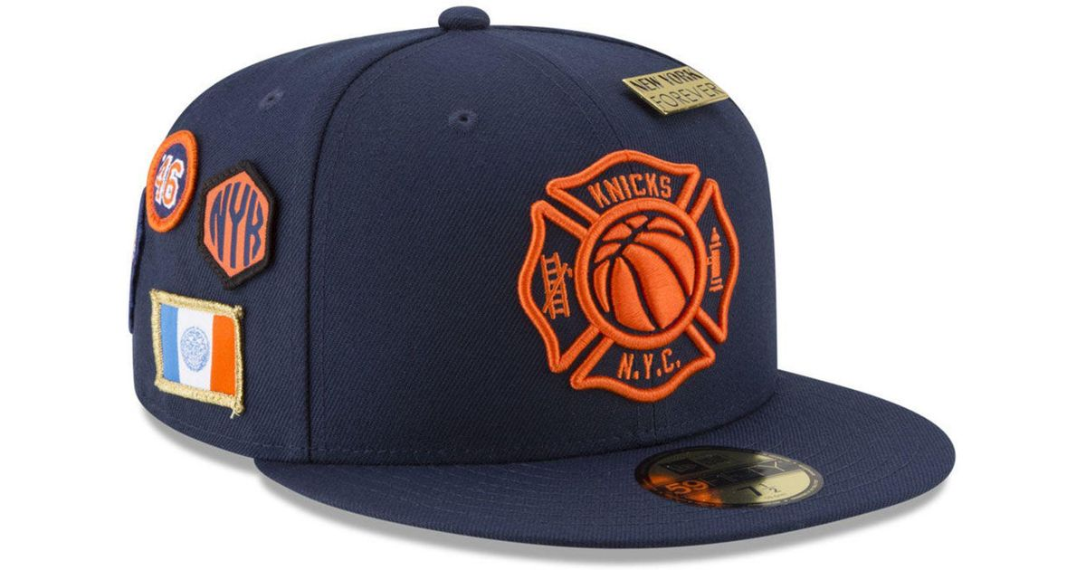 546624632f4 Lyst - KTZ New York Knicks City On-court 59fifty Fitted Cap in Blue for Men