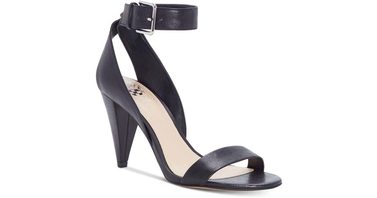 Caitriona Suede Nubuck Buckle Ankle Strap Cone Heel Sandals UCy7FVdewP