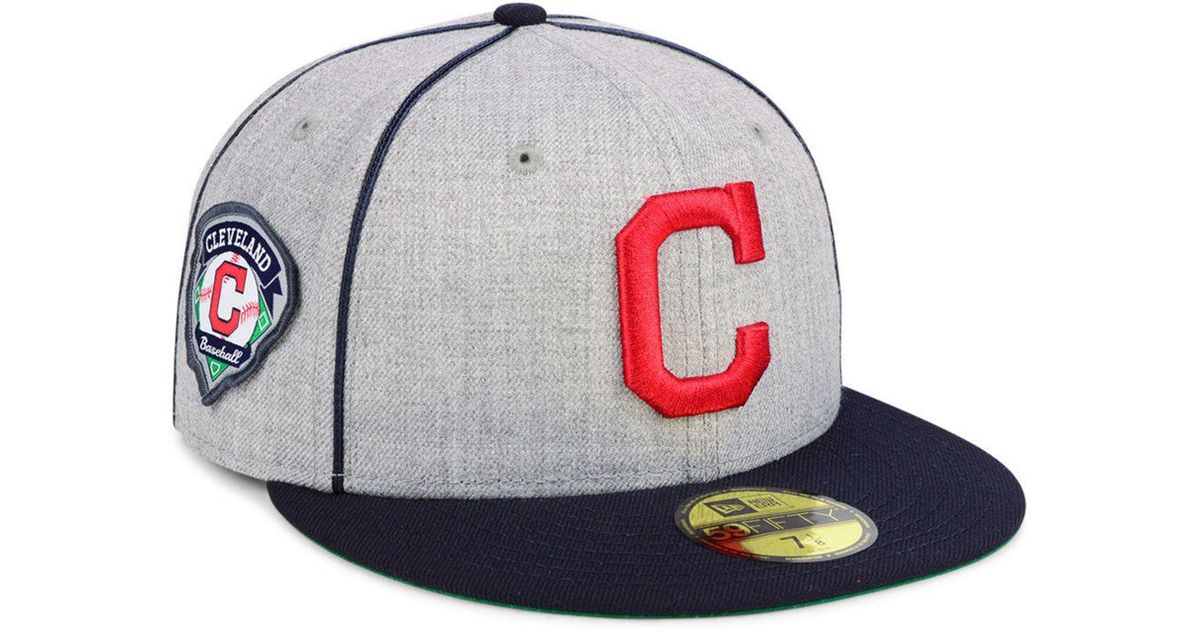 online store a0b25 f7e78 ... promo code for lyst ktz cleveland indians stache 59fifty fitted cap for  men 0bb27 fa6ed