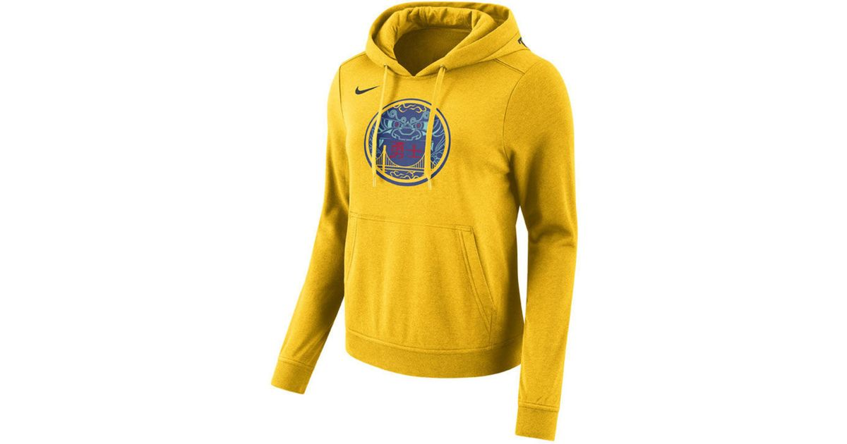 competitive price 64891 49095 Nike - Metallic Golden State Warriors Club City Edition Hooded Sweatshirt  for Men - Lyst