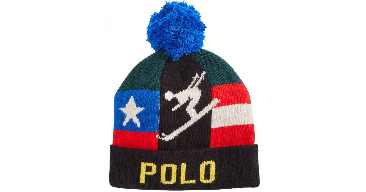 3fd08d6744ba3 Lyst - Polo Ralph Lauren Downhill Skier Hat in Black for Men - Save 67%