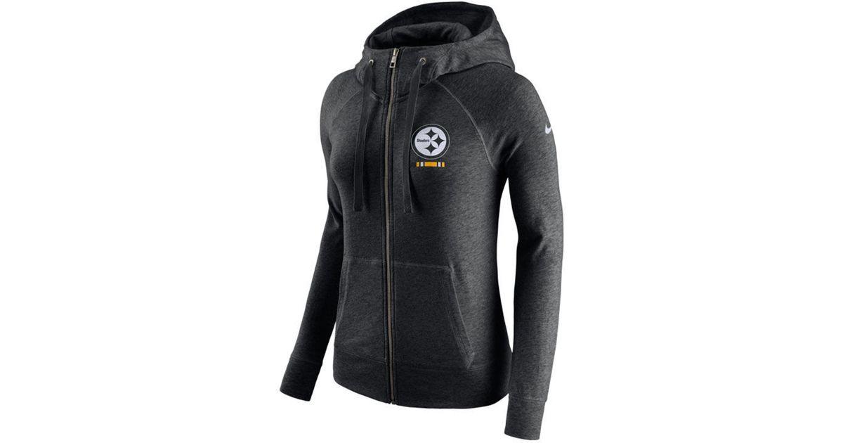beb5084c827c Lyst - Nike Pittsburgh Steelers Gym Vintage Full-zip Hoodie in Black