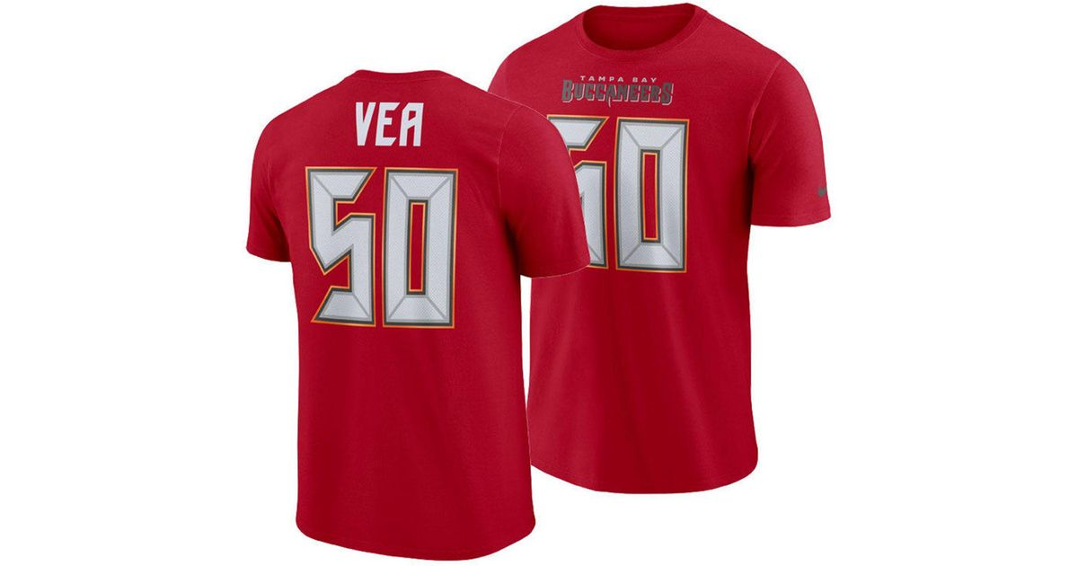 Lyst - Nike Vita Vea Tampa Bay Buccaneers Pride Name And Number Wordmark T- shirt in Red for Men 8a95ac47a