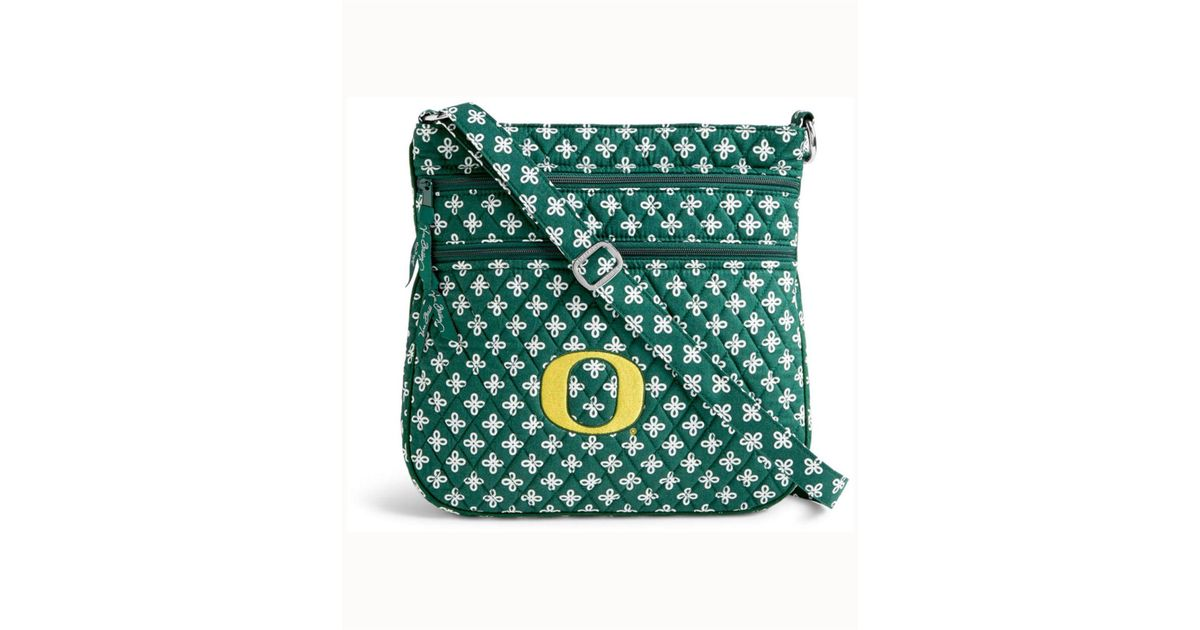 ea94f21495 Lyst - Vera Bradley Oregon Ducks Triple Zip Hipster in Green