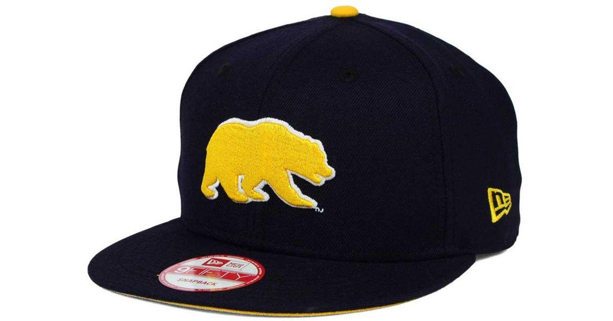 buy popular 509e2 55d7e KTZ California Golden Bears Core 9fifty Snapback Cap in Blue for Men - Lyst
