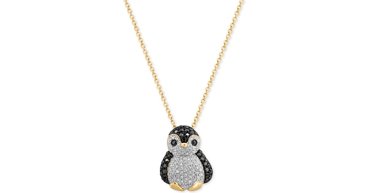Lyst effy collection diamond penguin pendant necklace 58 ct lyst effy collection diamond penguin pendant necklace 58 ct tw in 14k gold in metallic aloadofball Choice Image