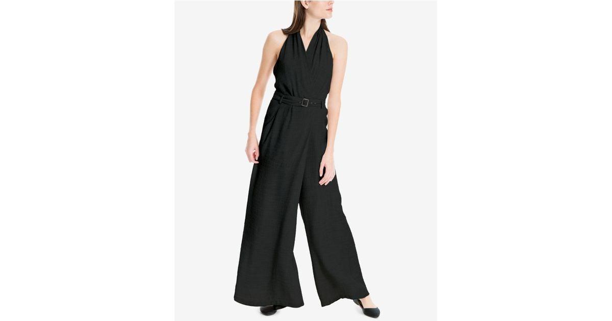 2c8483df4479 Lyst - Max Studio Belted Wide-leg Jumpsuit in Black
