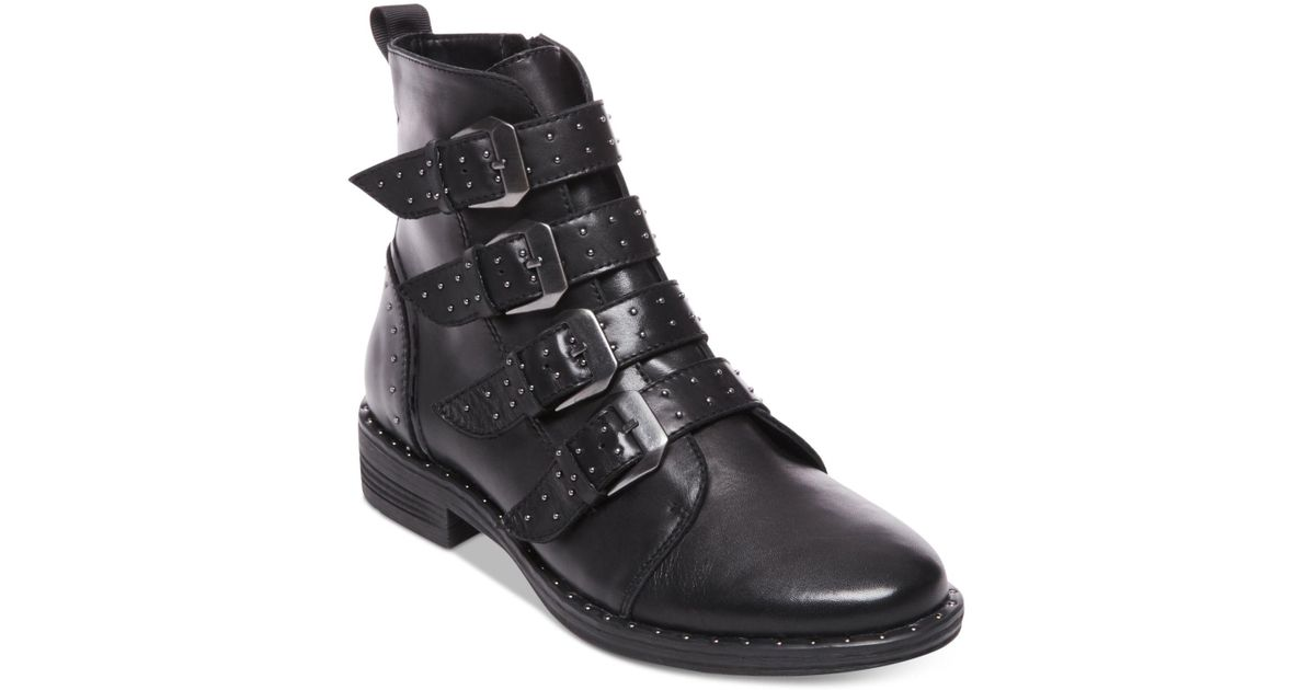 80695be6ba4 Lyst - Steve Madden Pursue Buckle Booties in Black