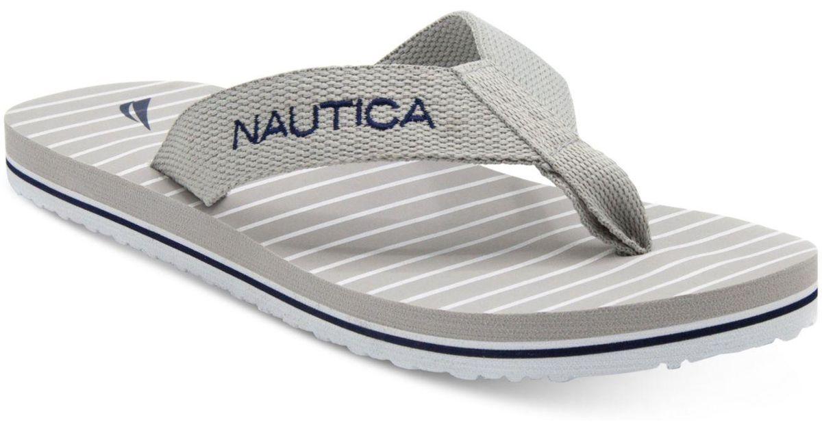 b4ba49de711f Lyst - Nautica Fair Water Flip-flops in Gray for Men
