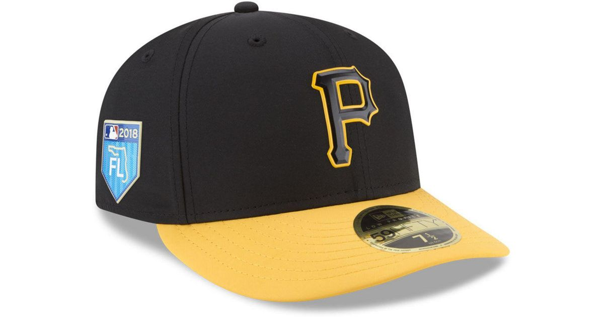 Lyst - KTZ Pittsburgh Pirates Spring Training Pro Light Low Profile 59fifty  Fitted Cap in Black for Men 87886925ad50