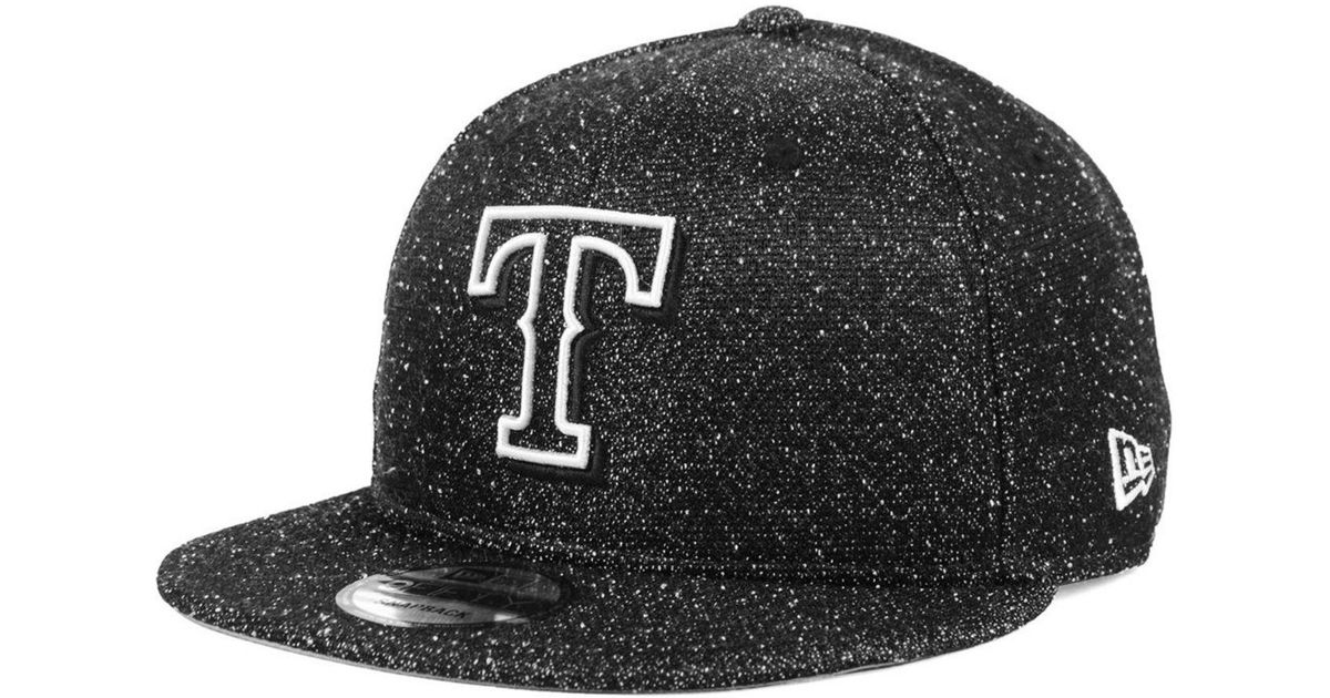 finest selection d8ace a8e2c Lyst - KTZ Texas Rangers Spec 9fifty Snapback Cap in Black for Men