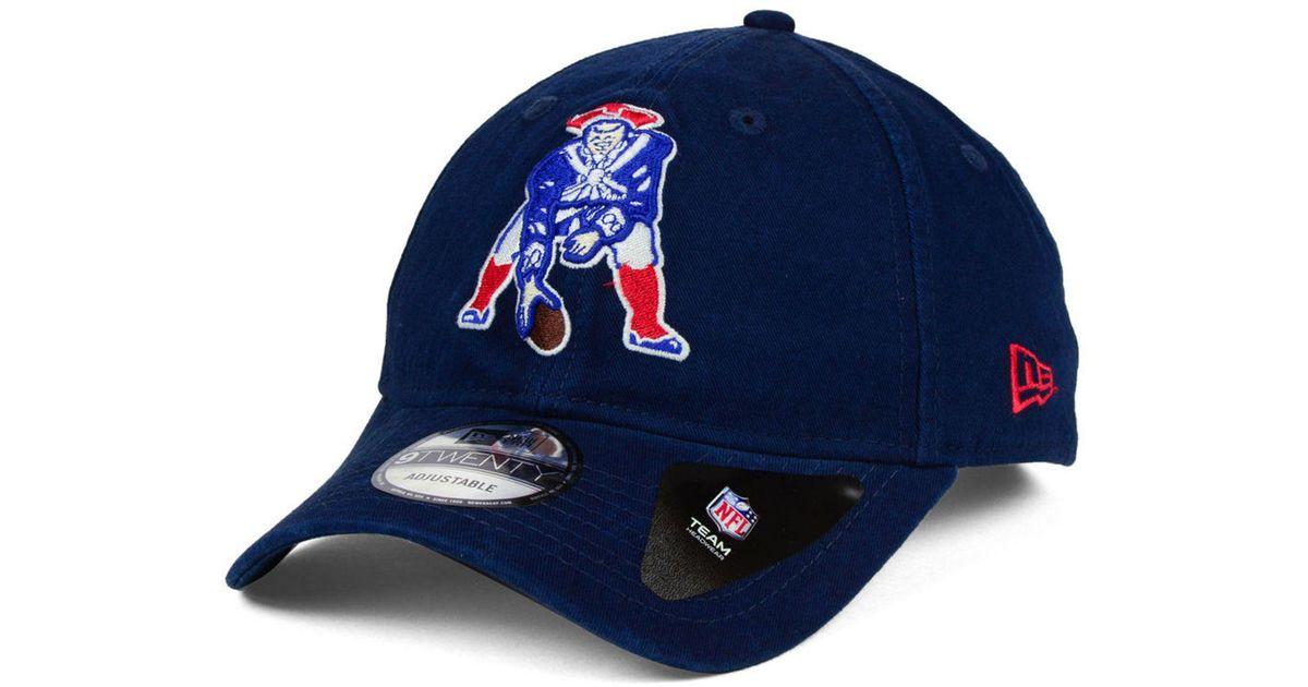 5774f62e KTZ New England Patriots Core Shore 9twenty Strapback Cap in Blue for Men -  Lyst
