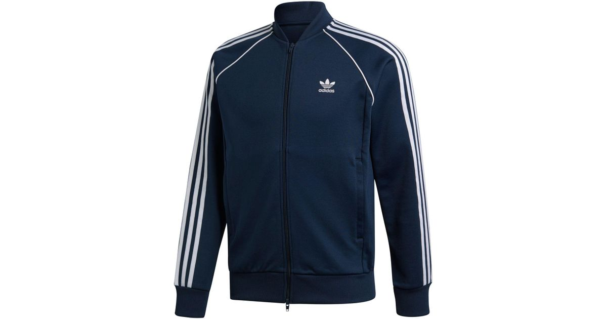 super popular 37026 7455d Adidas For Superstar Track Men In Lyst Originals Adicolor Blue Jacket  4ARqc5jL3