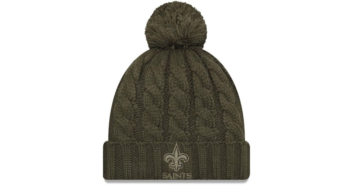 37ed9113a Lyst - KTZ New Orleans Saints Salute To Service Pom Knit Hat in Green