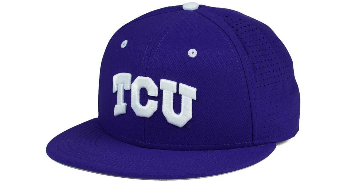 low priced 293d2 f278e ... buy lyst nike tcu horned frogs true vapor fitted cap in purple for men  save 42.857142857142854
